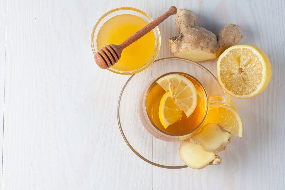 Herbata z imbiru i cytryny