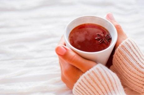 Gorąca herbatka z dodatkiem anyżu