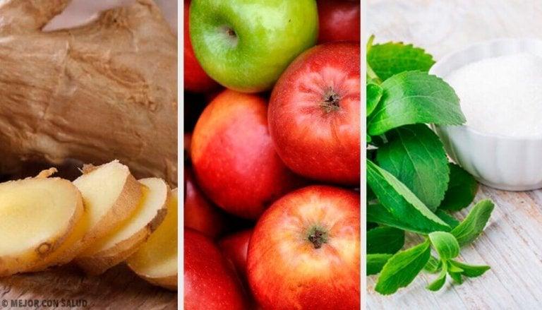 Przyspiesz trawienie napojem z imbiru, jabłek i stewii