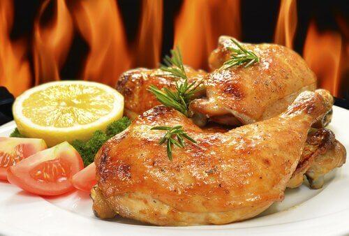 Kurczak na talerzu