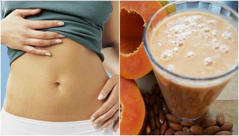 Smoothie na lepsze trawienie: papaja i mleko migdałowe