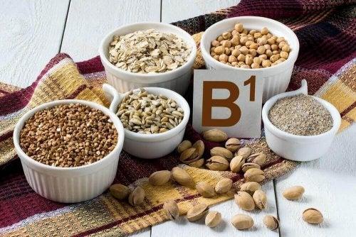 produkty spożywcze z witaminą B1