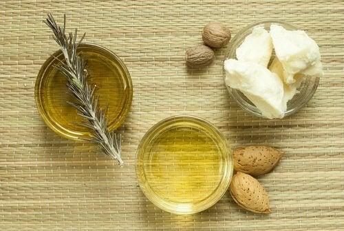 masło kakaowe i olej migdałowy na skórę