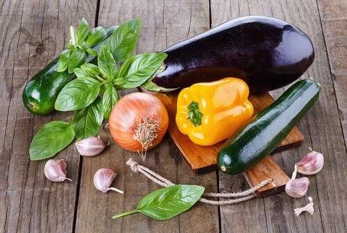 Świeże warzywa i przyprawy