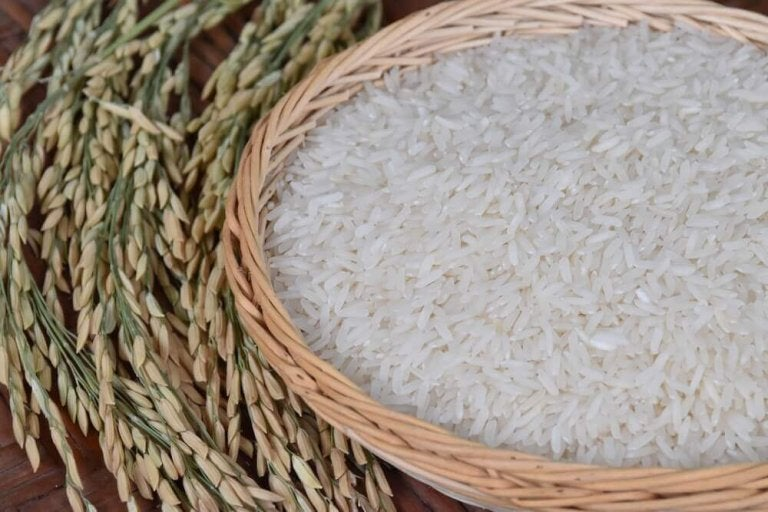 Ziarna ryżu.