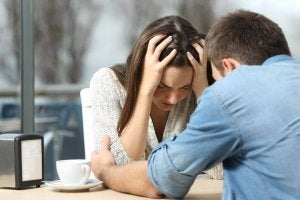 Kłótnia pary a miłość