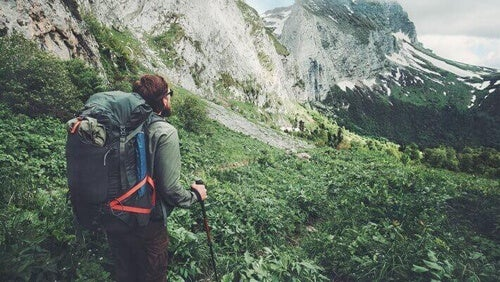 Kobieta wycieczka piesza w góry Choć spacery po mieście również są korzystne dla zdrowia, piesze wędrówki w naturze są nie do przecenienia.