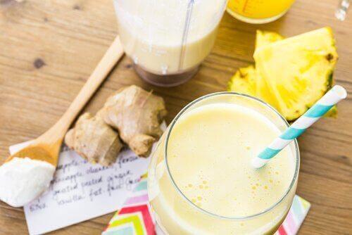 połączenie siemienia z ananasem i anyżem