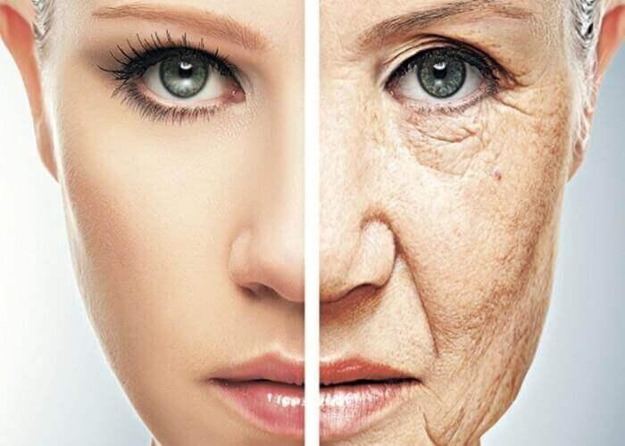 Przedwczesne starzenie się skóry.