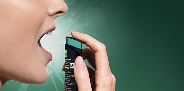 Spray nikotynowy.