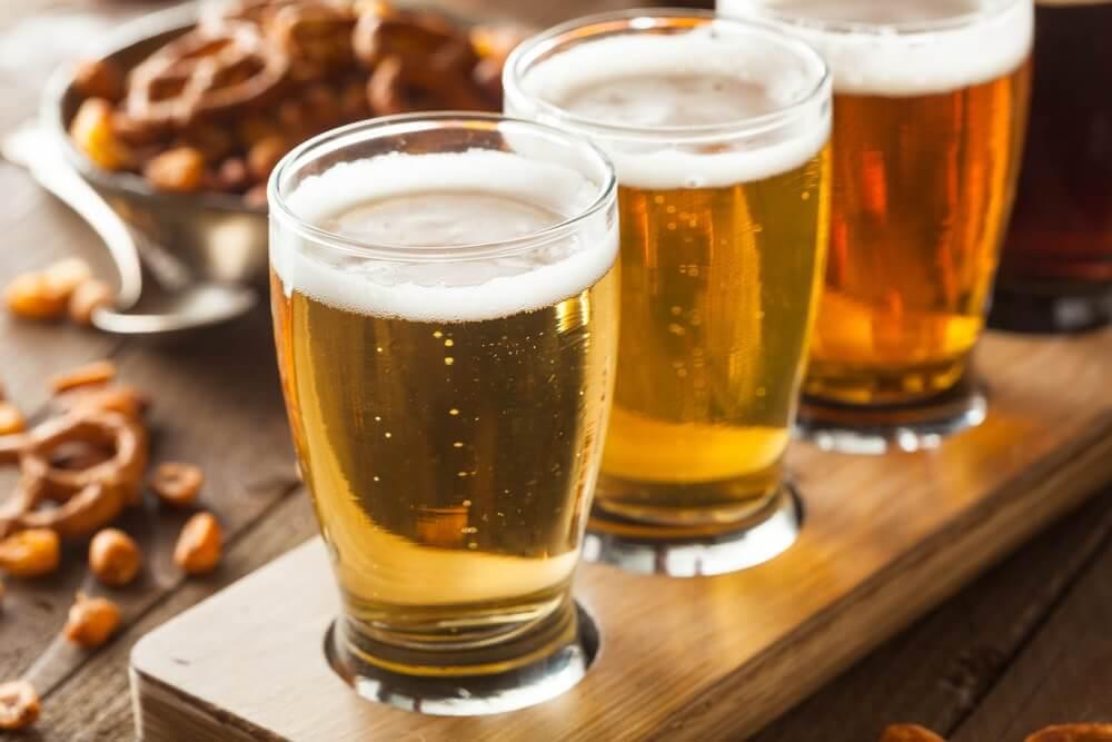 Trzy kufle piwa