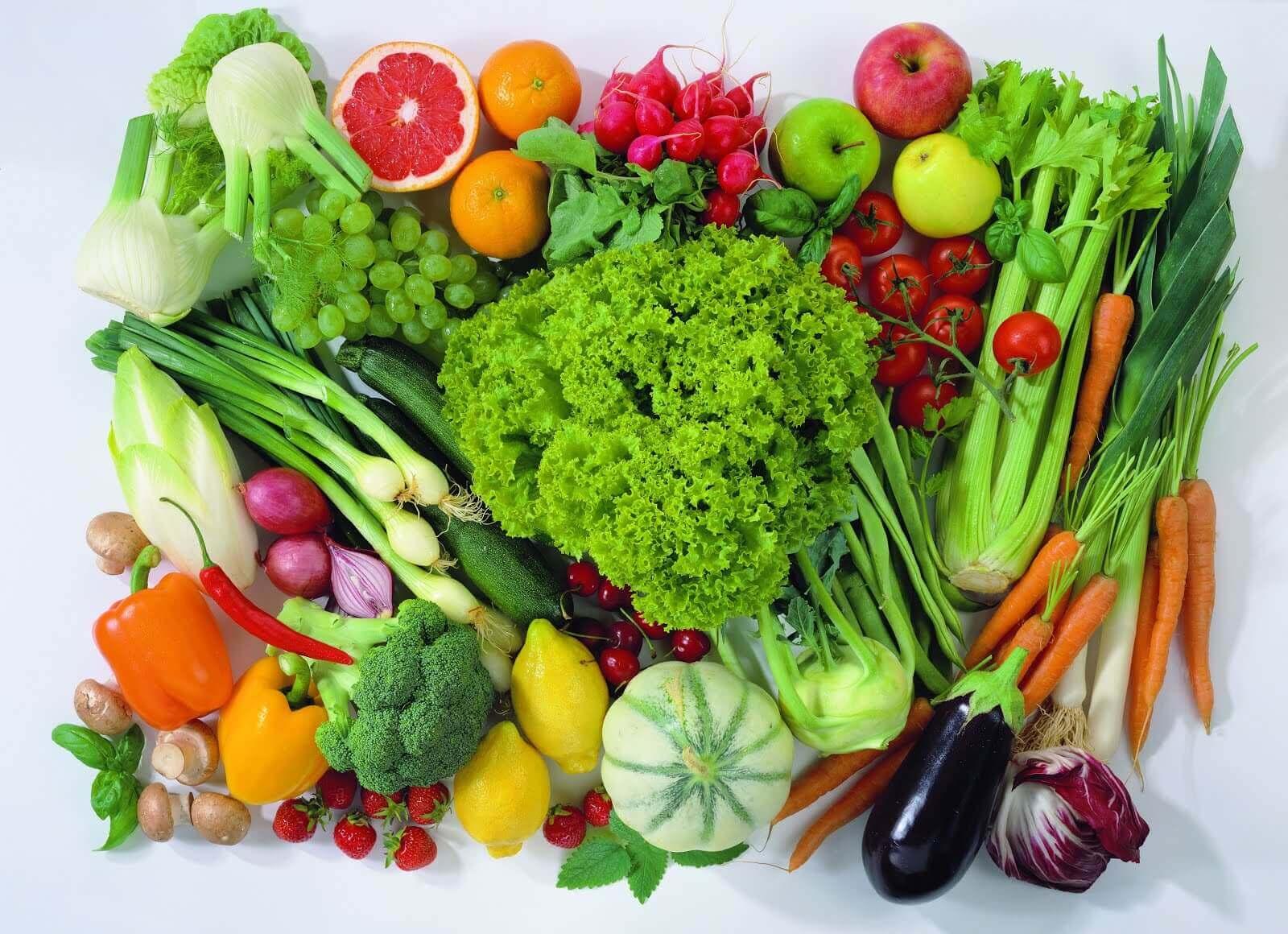 Świeże warzywa i owoce