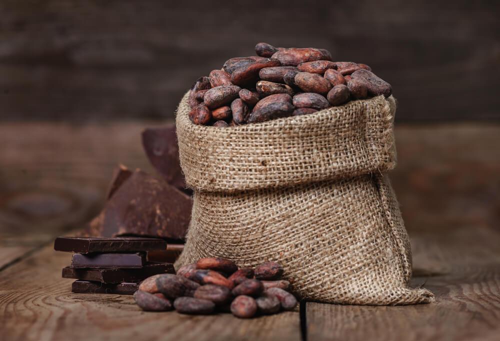 Worek ziaren kakao