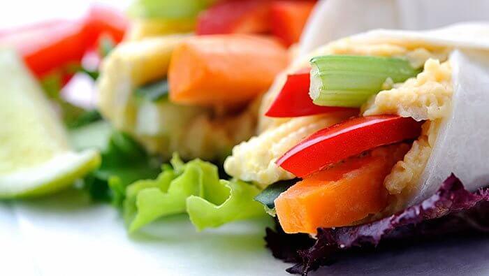Wrap z warzywami