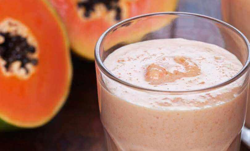 koktajl na detoks - papaja