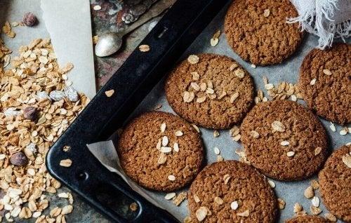Upieczone ciasteczka owsiane