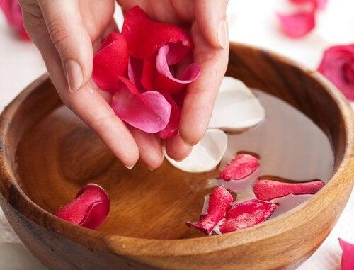 Miska z wodą różaną