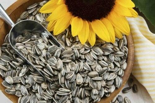 Nasiona słonecznika to cenne źródło magnezu i cynku.