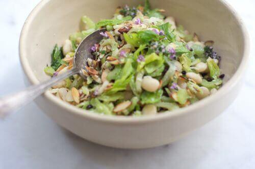 Zielona sałatka z selera