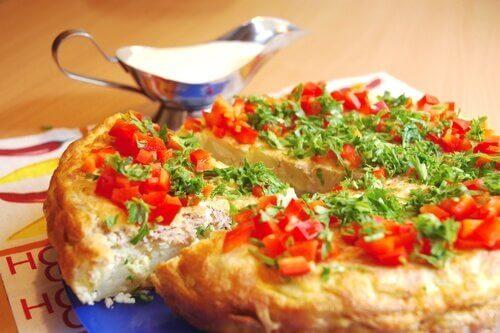 Tortilla hiszpańska z warzywami