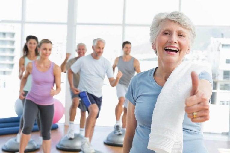 Ćwiczenia fizyczne u osób starszych.