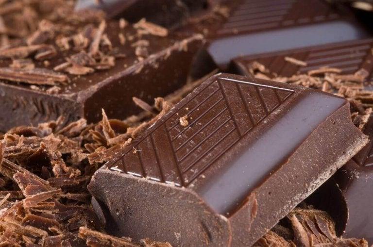 Kostka czekolady.