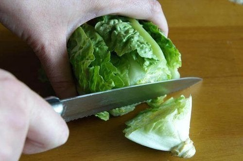 Krojenie sałaty.