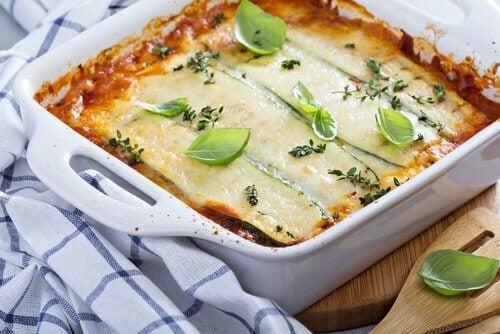 Zapiekane bakłażany w lasagne.