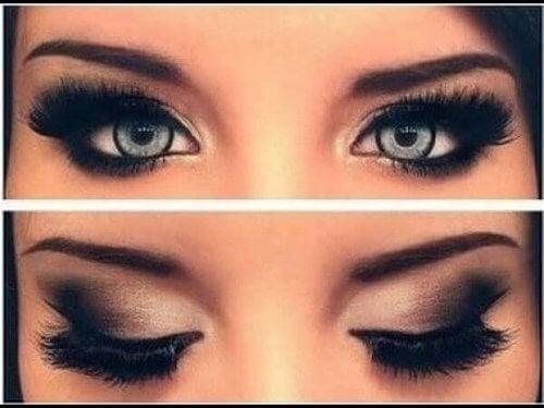 Makijaż małych oczu.