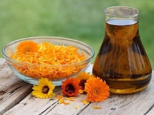 Olej nagietkowy wykorzystywany jest w medycynie do uśmierzania bólu różnego pochodzenia.