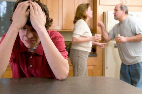 Kłótnia rodziców.
