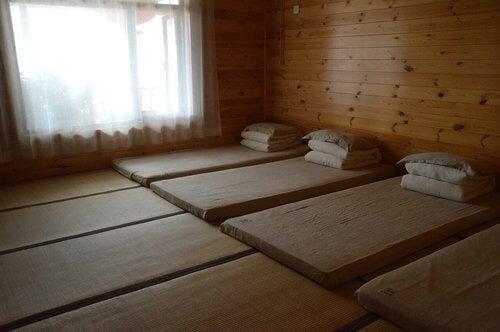 Japońska dekoracja - sypialnia.