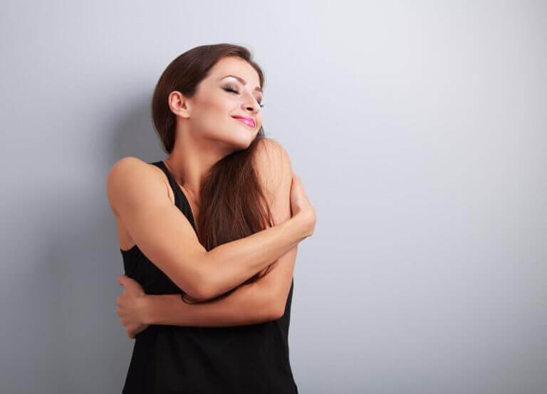 Kobieta kocha siebie