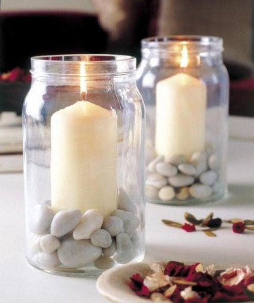 Świeczki w słoiczkach