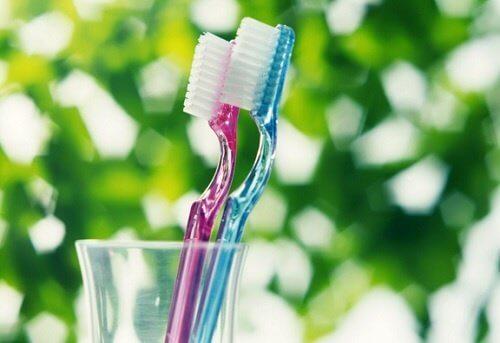 Szczoteczki do zębów w kubku