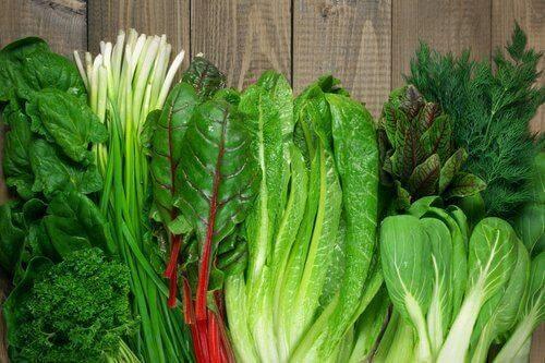 Warzywa liściaste wpływają korzystnie na równowagę minerałów w organizmie.