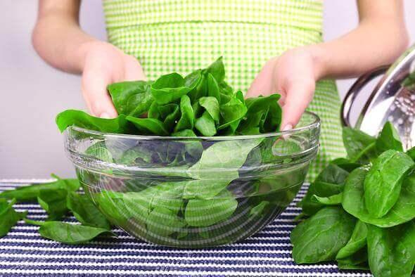 Zielone warzywa.