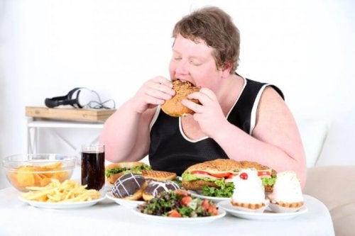 objadanie się otyłośc
