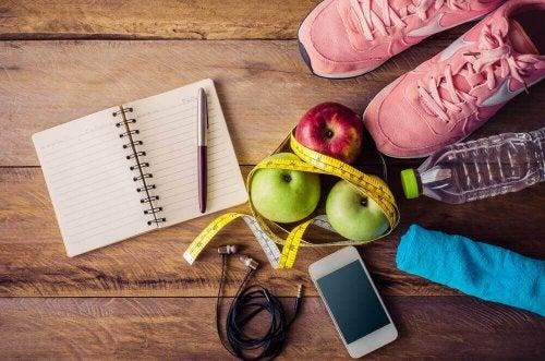 równowaga dieta jabłka zeszyt