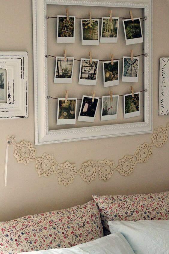 Zdjęcia nad łóżkiem
