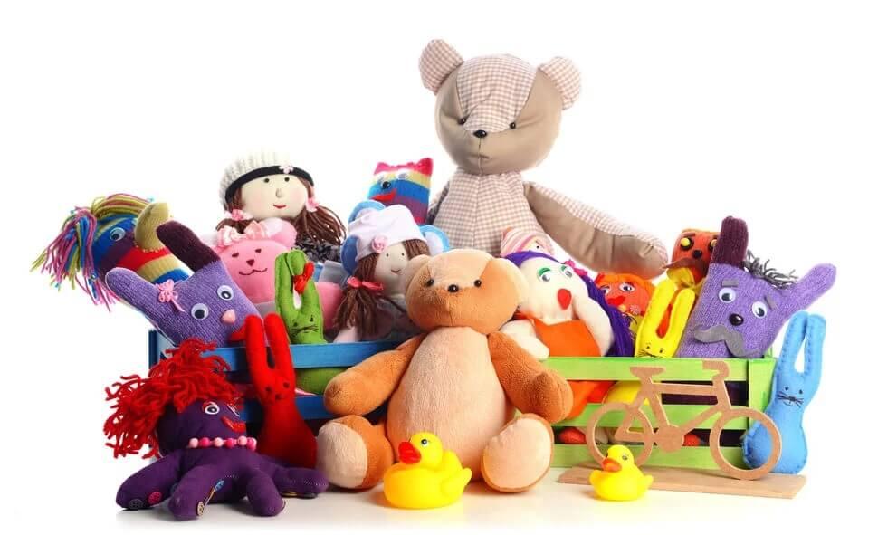 Kolorowe zabawki i prezenty