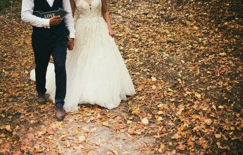 Ślub jesienią.