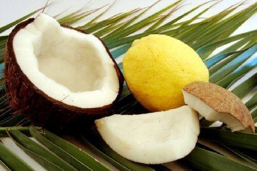 Olej kokosowy i cytryna