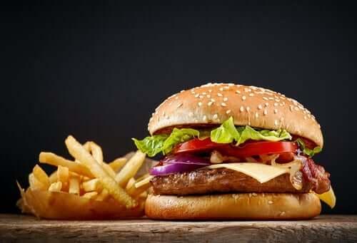 frytki burger z kurczaka