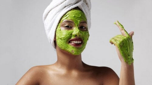 Zielona maseczka