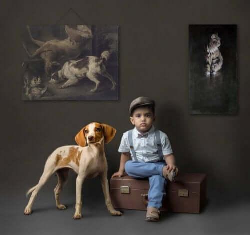 Pies i chłopiec a najlepsze kolory do sypialni