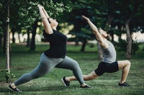 joga w parku
