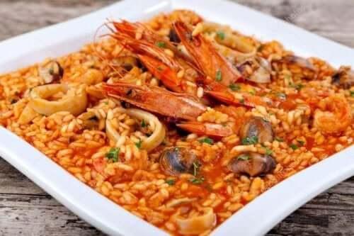 ryż z krewetkami