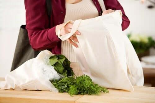 Płócienne torby na zakupy
