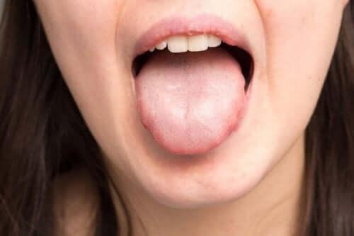 Wystawiony język
